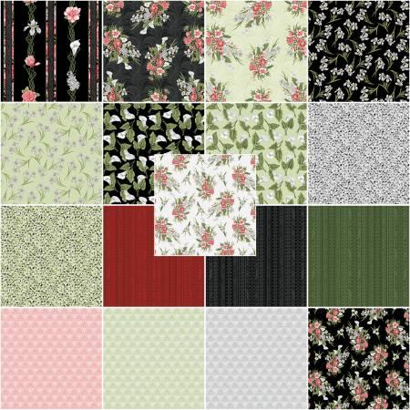 10in Squares Magnificent Blooms, 42pcs/bundle