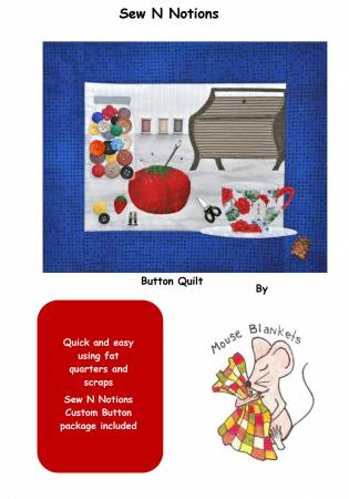 Sew N Notions - Pattern and Button Pack