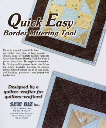 Large Quick Easy Border Mitering Tool