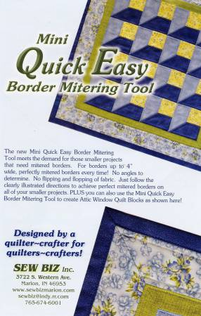 Mini Quick Easy Border Mitering Tool 1pc