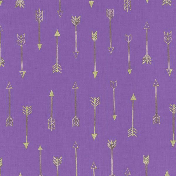 Michael Miller fabrics Grape Arrows w/Metallic 6990