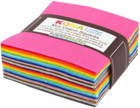 2-1/2in Squares Kona Solids New 2017 Colors 84pcs/bundle