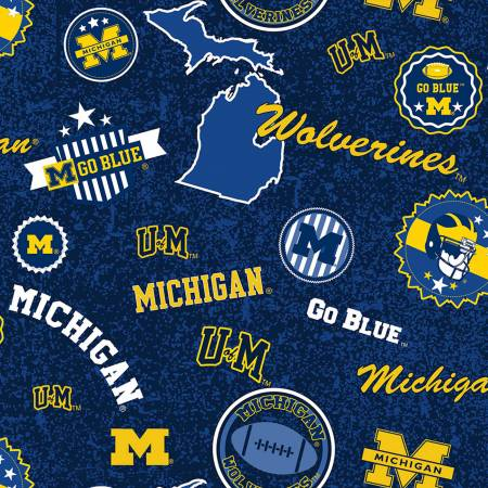 NCAA-Michigan Wolverines Home State Cotton by Sykel