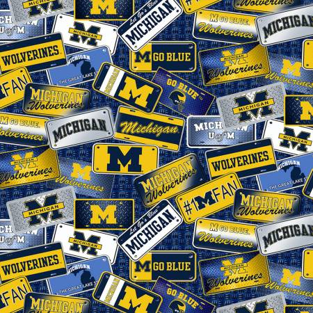 NCAA-Michigan Wolverines License Plate Cotton MCHG 1210