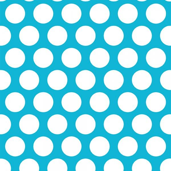 Mod Dot Cuddle Turquoise/Snow
