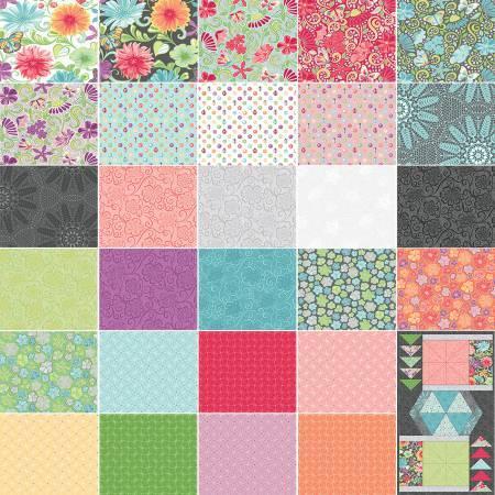 5in Squares Meadow Dance 42pcs/bundle, 12 bundles per box