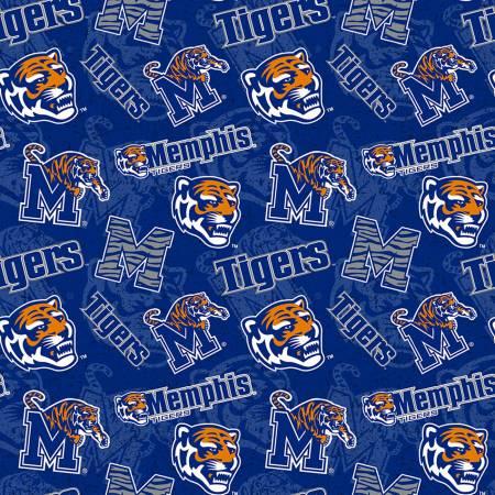 NCAA-Memphis Tigers Tone on Tone Cotton