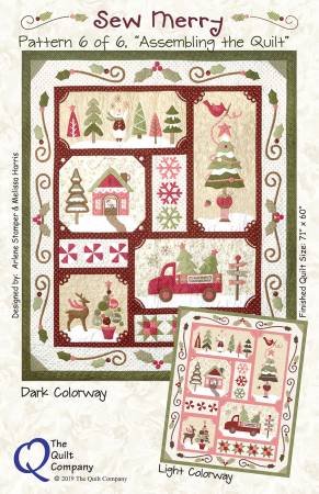 The Quilt Company Sew Merry 6 pattern set