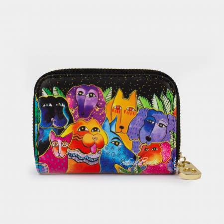 Dogs And Doggies Zipper Card Wallet