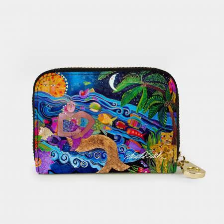 Sea Goddess Zipper Card Wallet