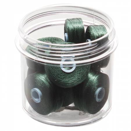 Magna-Glide Delights Style M Jumbo 132yd Pre-wound Bobbin Totem Green 10 Jar