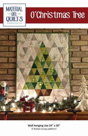 O'Christmas Tree Pattern for 24 x 30 Wall Hanging by Material Girl Quilts