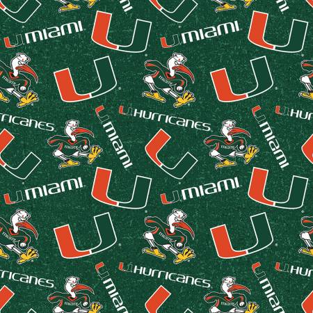 Licensed:  University of Miami Tone on Tone Logos by Sykel Enterprises