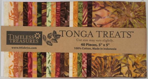 5in Squares Tonga Treat Autumn 40pcs/bundle