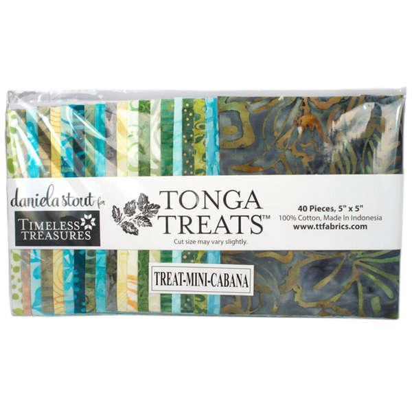 Tonga Batiks Treats Mini's Cabna 5in Squares