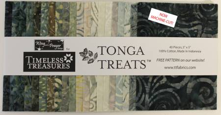 Tonga Batik Canyon 5 Squares, 40pcs/bundle