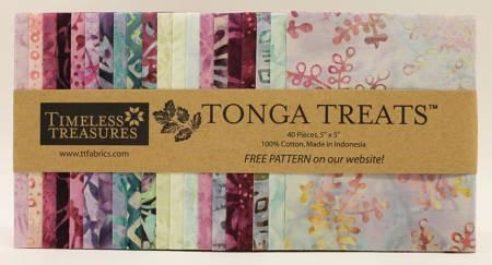5in Squares, Tonga Batik Dahlia, 20pcs/bundle