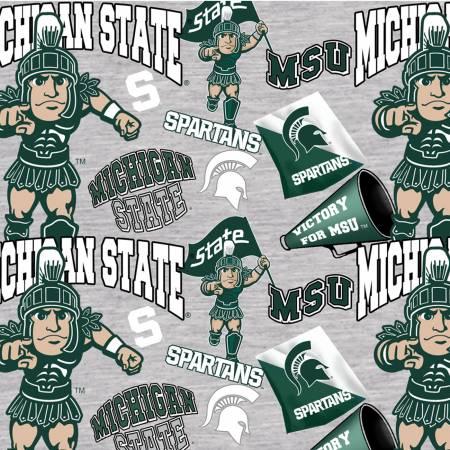 Gray Michigan State Spartans Digitally Printed