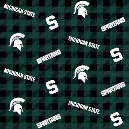NCAA-Michigan State Spartans Buffalo Plaid Cotton