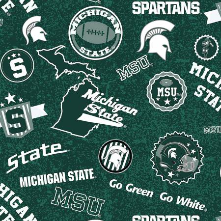NCAA-Michigan State Spartans Home State Cotton MIST 1208
