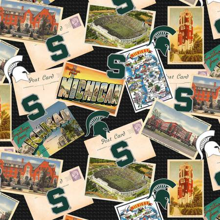 NCAA-Michigan State Spartans Scenic Postcard Cotton