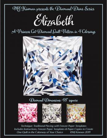 Elizabeth Princess Cut Diamond Quilt Pattern