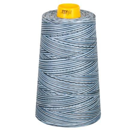 Mako Cotton 3-ply Longarm Thread 40wt 3280yds Stonewash Blues