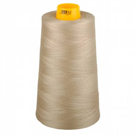 Aurifil Mako Cotton 3-ply Longarm Thread 40 wt 3280 yds Cone 5011 Rope Beige