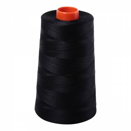 Mako Cotton Embroidery Thread 50wt 6452yds Black