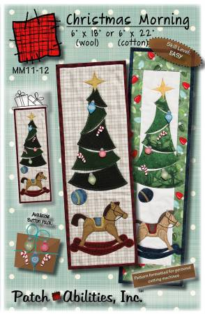 PT- Christmas Morning Mini Banner W/Buttons