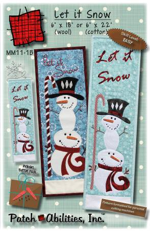 Let It Snow Cotton Pattern with accessories