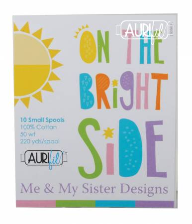 Aurifil On The Bright Side Thread Collection 50wt 10 Small Cotton Spools