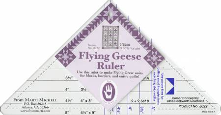 Marti Mitchell Flying Geese Ruler
