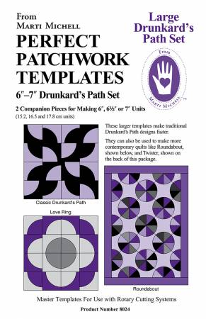 Perfect Patchwork Templates Drunkard's Path
