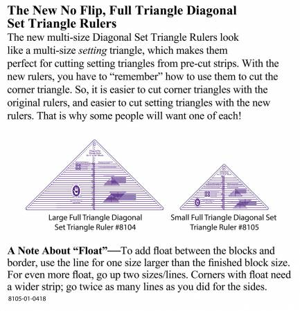 Diagonal Set Triangle Ruler 2 1/2in to 10in