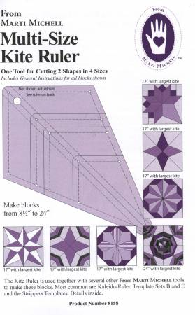 Multi Size Kite Ruler and pattern