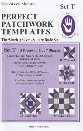 Marti Michell 5in Basic Patchwork Shapes Template Set T