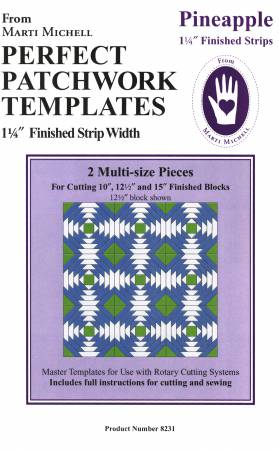 Pineapple Template Set 1-1/4in Finished Strips