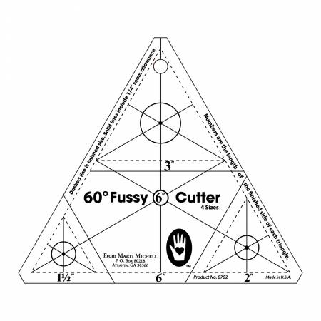 Multi-size 60 degree fussy cutter
