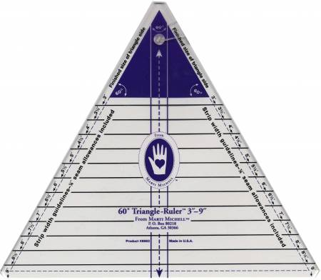 60 Degree Triangle Ruler Large 3 to 9in