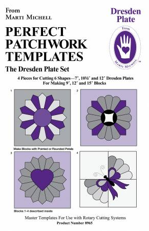 Perfect  Patchwork Templates Dresden Plate