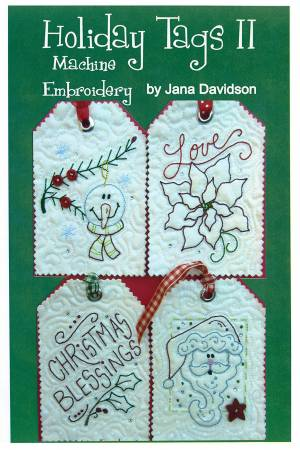 CD Holiday Tags II Machine Embroidery
