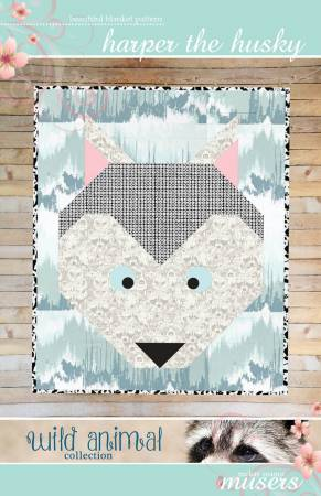 Harper the Husky Baby Blanket Quilt
