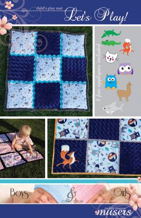 Childs Play Mat Pattern with 8 Appliques Pattern