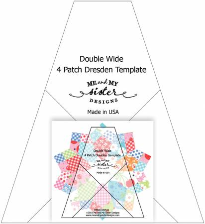 Double Wide Four Patch Dresden Template w/Cherry Pickin pattern