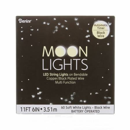 Black Wire Battery Operated Moon Lites