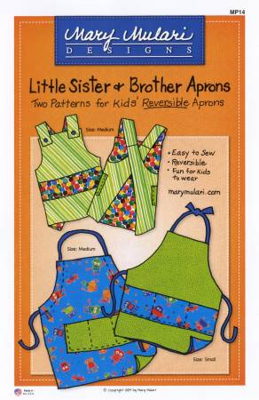 Little Sister and Brother Apron Pattern