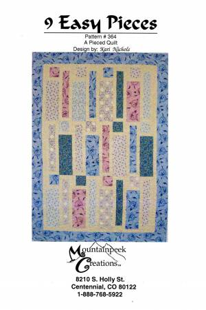 9 Easy Pieces Quilt Pattern by Mountainpeek Creations