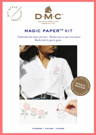 Magic Paper Embroidery Kit Cross Stitch Flower