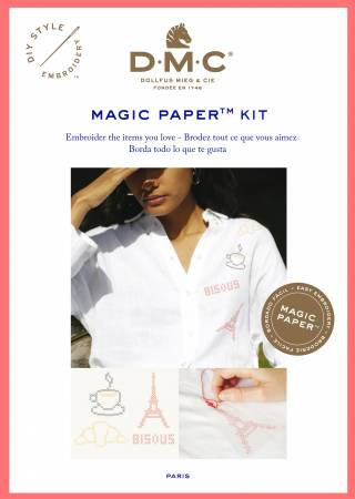 Magic Paper Embroidery Kit Cross Stitch French